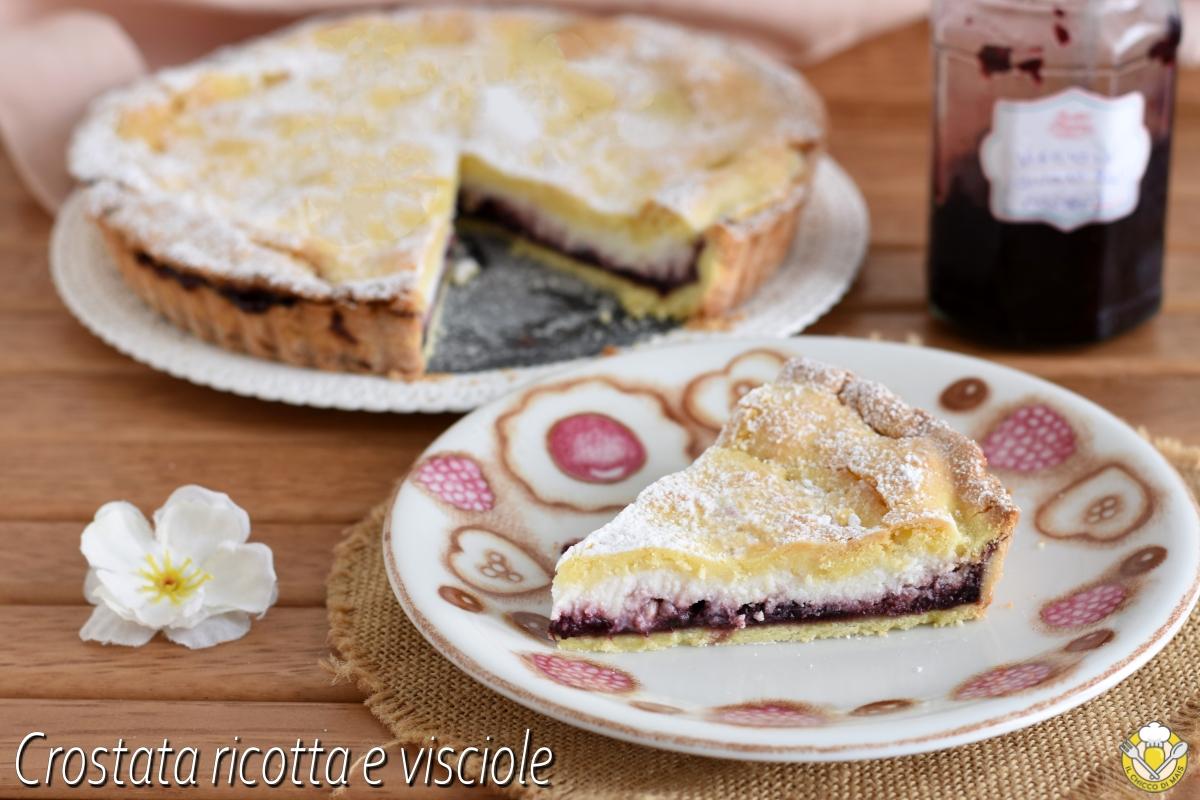 crostata ricotta e visciole ricetta originale ebraica romana con torta ricotta e marmellata di visciole il chicco di mais