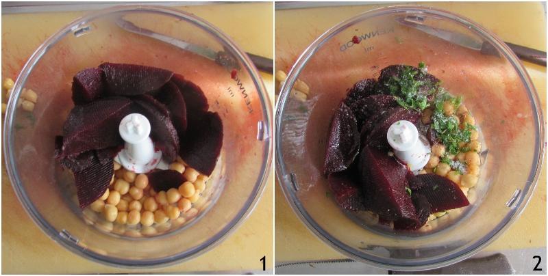 hummus di barbabietola e ceci ricetta facile e veloce crema con barbabietole rosse precotte il chicco di mais 1 mettere ingredienti nel frullatore