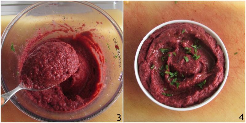 hummus di barbabietola e ceci ricetta facile e veloce crema con barbabietole rosse precotte il chicco di mais 2 frullare
