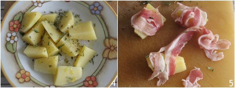 patate al forno avvolte nella pancetta arrotolata ricetta contorno di patate originale sfizioso il chicco di mais 2 arrotolare la pancetta
