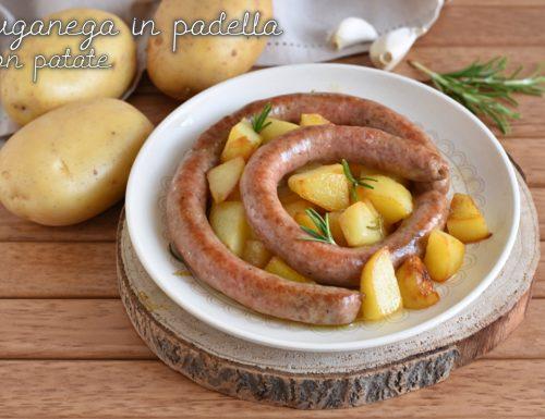 Salsiccia luganega in padella con patate