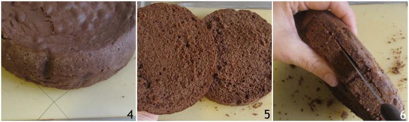 torta a strati farcita ai lamponi ricetta torta di compleanno facile senza glutine decorata con panna il chicco di mais 1 tagliare il pan di spagna 2 tagliere il secondo strato