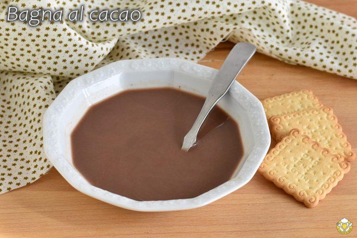 bagna al cacao analcolica per torte al cioccolato dolci per bambini mattonella di biscotti il chicco di mais