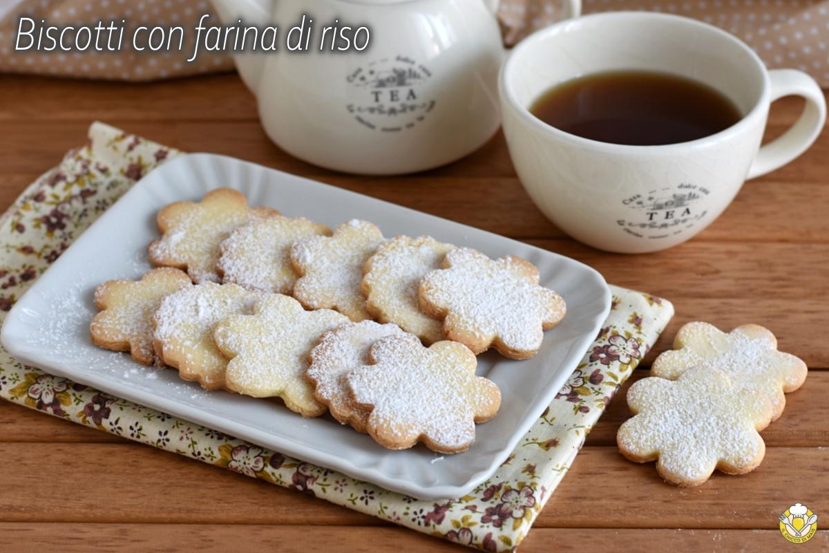 biscotti con farina di riso ricetta senza glutine facile con video frollini semplici il chicco di mais