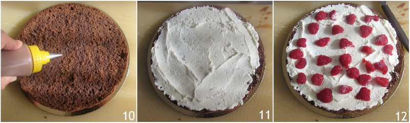 torta a strati farcita ai lamponi ricetta torta di compleanno facile senza glutine decorata con panna il chicco di mais 4 farcire il primo strato