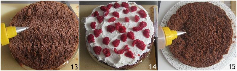 torta a strati farcita ai lamponi ricetta torta di compleanno facile senza glutine decorata con panna il chicco di mais 5 farcire il secondo strato