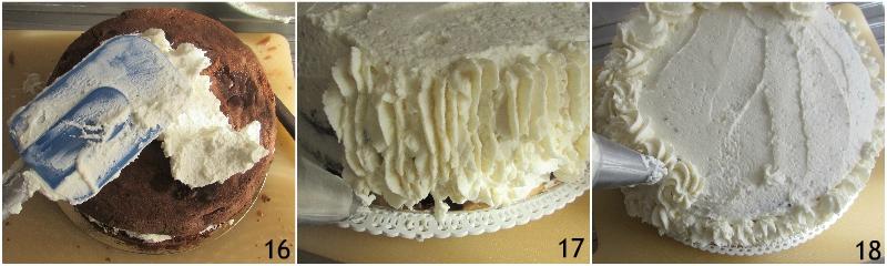 torta a strati farcita ai lamponi ricetta torta di compleanno facile senza glutine decorata con panna il chicco di mais 6 rivestire la torta