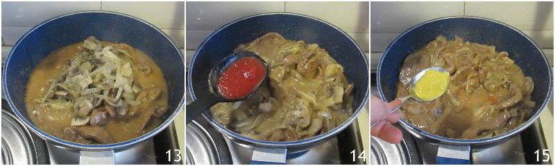 manzo alla stroganoff ricetta russa filetto alla strogonov con cipolle panna acida e funghi il chicco di mais 5 unire spezie