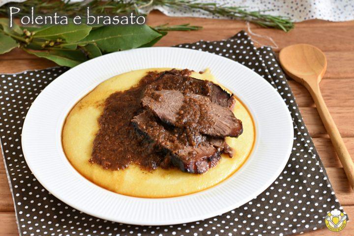 polenta e brasato ricetta passo passo stufato al vino in pentola tradizionale o nella slow cooker crock pot il chicco di mais