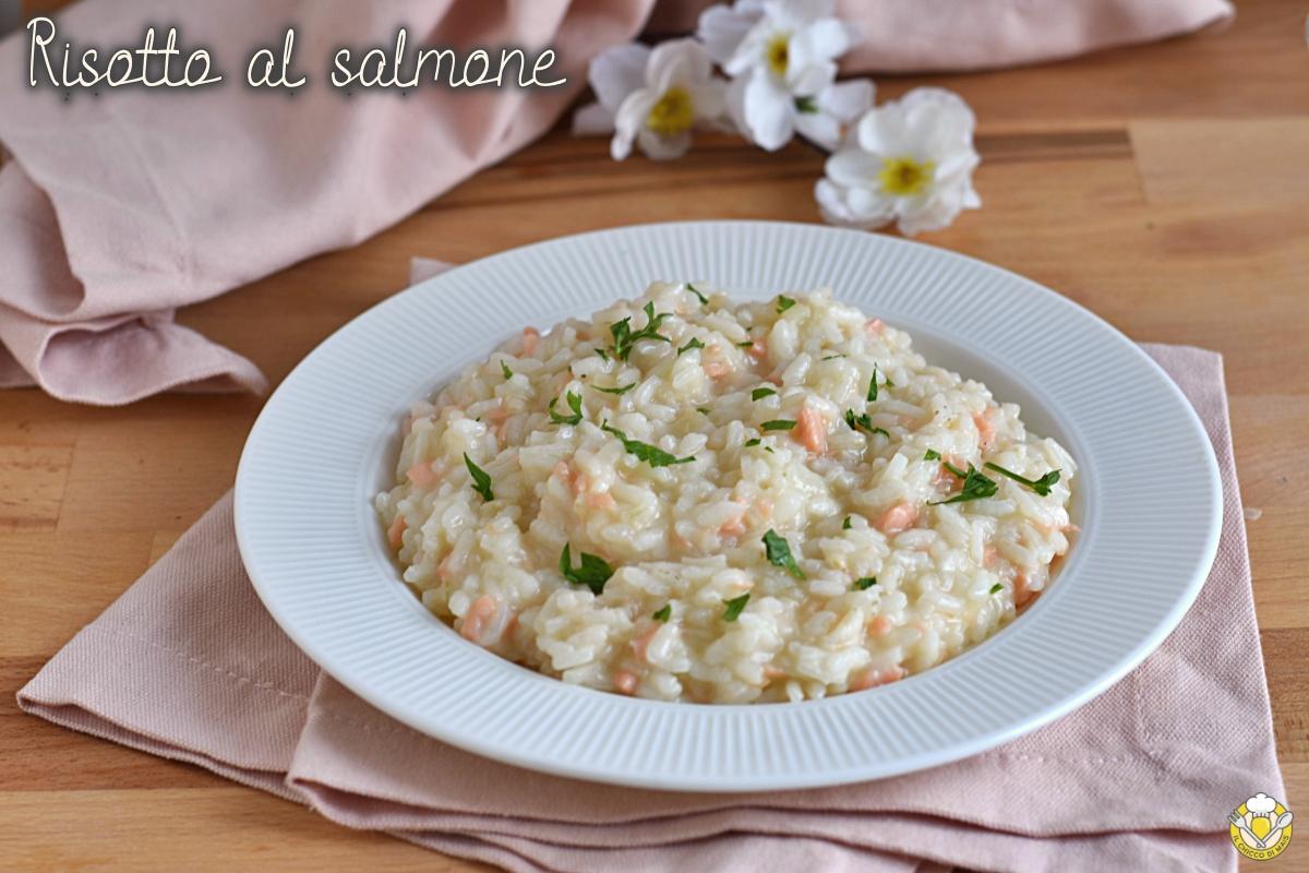 risotto al salmone affumicato cremoso ricetta facile primo di pesce economico raffinato il chicco di mais