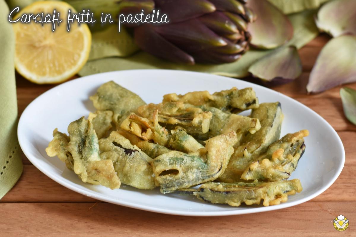 carciofi fritti in pastella ricetta facile senza uova anche senza glutine il chicco di mais