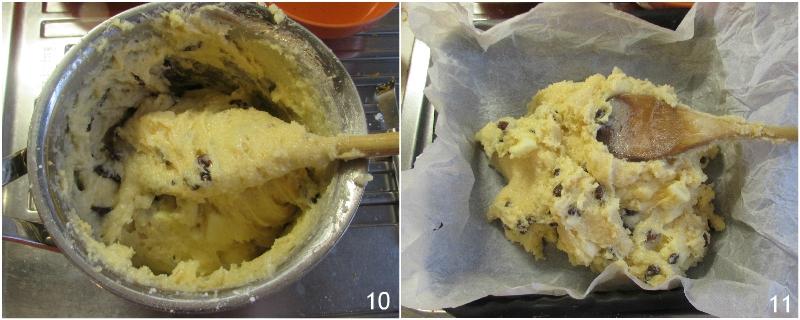 pinza o pinsa dolce di polenta torta veneta per la befana ricetta tradizionale per l'epifania il chicco di mais 4 mettere in teglia