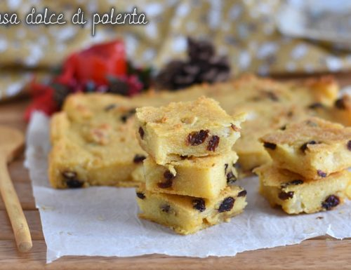 Pinza o pinsa dolce di polenta