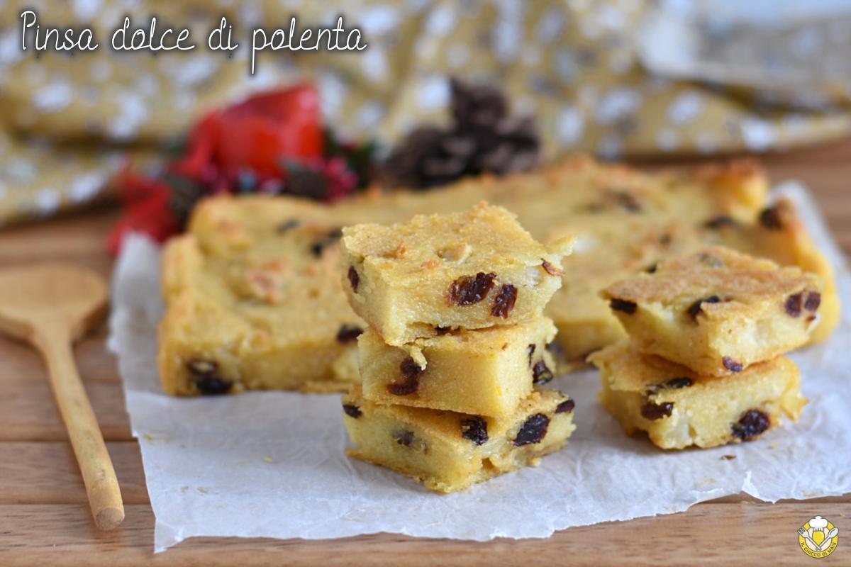 pinza o pinsa dolce di polenta torta veneta per la befana ricetta tradizionale per l'epifania il chicco di mais