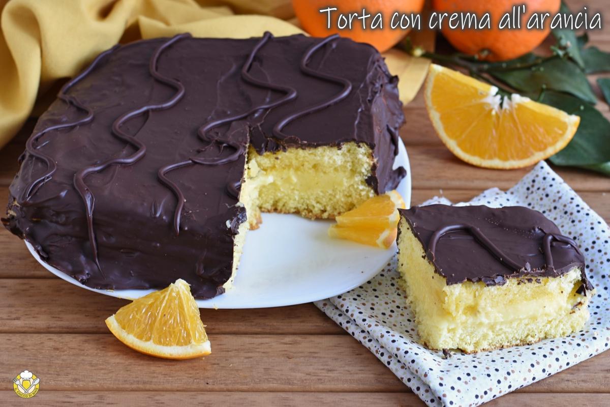 torta fiesta torta con crema all'arancia e cioccolato glassata ricetta anche senza glutine il chicco di mais