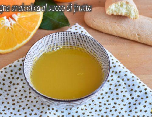 Bagna analcolica al succo di frutta