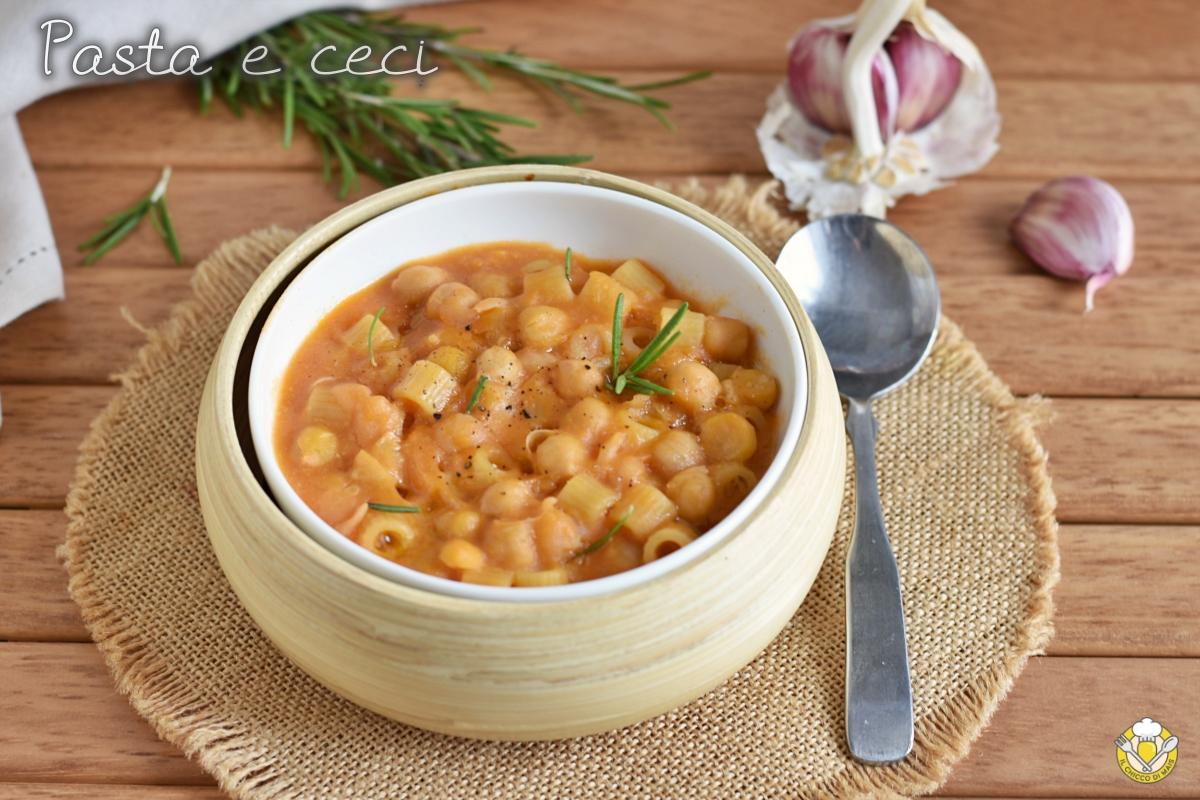 pasta e ceci cremosa ricetta zuppa invernale facile e veloce il chicco di mais
