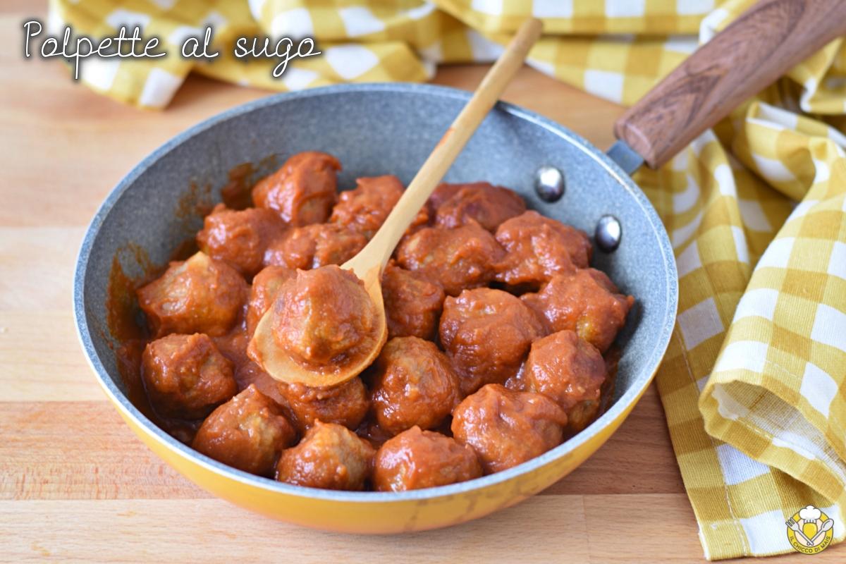 polpette al sugo in umido morbide non fritte ricetta facile polpette di carne mista al pomodoro il chicco di mais