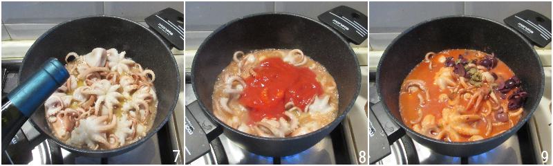 polipetti o moscardini alla luciana ricetta originale napoletana moscardini in umido con olive e pomodoro il chicco di mais 3 unire passata