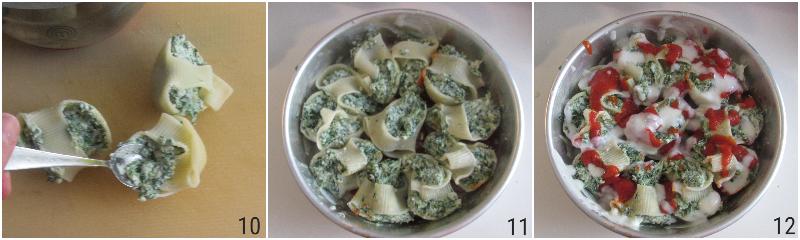 conchiglioni ricotta e spinaci al forno gratinati con pomodoro e besciamella ricetta primo facile vegetariano il chicco di mais 4 condire