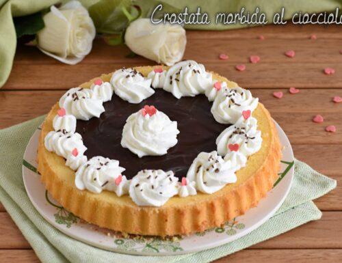 Crostata morbida al cioccolato e panna