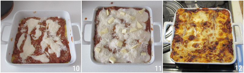 lasagne al ragù bolognese ricetta emiliana lasagne senza mozzarella con besciamlla e sugo di carne il chicco di mais 4 cuocere le lasagne