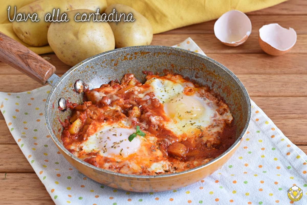 uova alla contadina con patate pomodoro e formaggio ricetta facile e veloce salvacena il chicco di mais