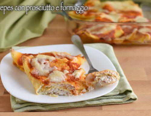 Crepes con prosciutto e formaggio