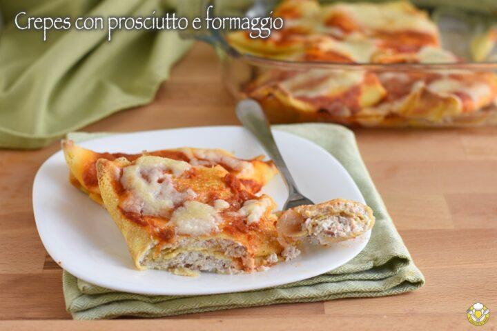 crepes con prosciutto e formaggio al forno con besciamella e pomodoro ricetta primo il chicco di mais