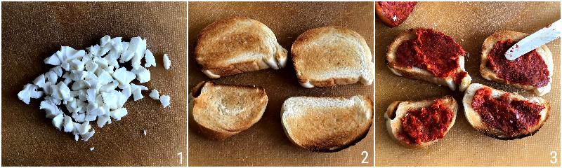 crostini alla nduja e mozzarella ricetta calabrese per usare la nduja piccante il chicco di mais 1 preparare i crostini