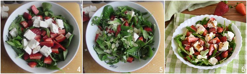 insalata di fragole e feta greca con rucola songino e aceto balsamico ricetta estiva il chicco di mais 2 condire l'insalata