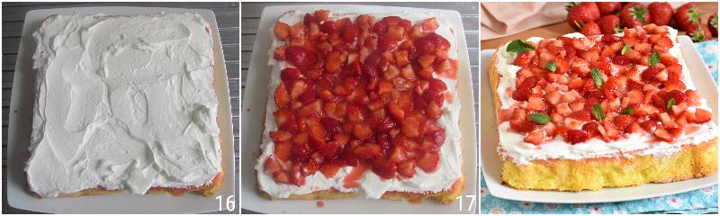 pan di spagna con panna e fragole ricetta dolce facile e veloce torta di compleanno semplice il chicco di mais 6 decorare con panna e fragole