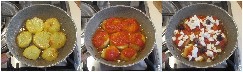 patate alla pizzaiola in padella con olive ricetta contorno ricco sfizioso il chicco di mais 3 condire con pomodoro