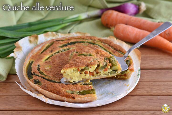 quiche alle verdure primaverili con carote asparagi e cipollotto ricetta il chicco di mais