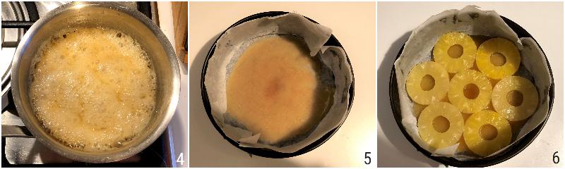 torta all'anans rovesciata con ananas fresco o sciroppato e caramello ricetta il chicco di mais 2 mettere ananas