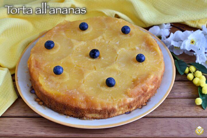 torta all'anans rovesciata con ananas fresco o sciroppato e caramello ricetta il chicco di mais