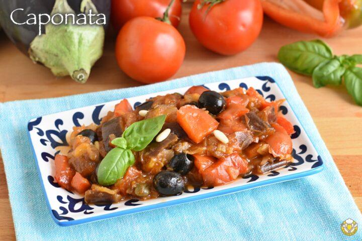 caponata senza frittura ricetta light caponata siciliana con peperoni e melanzane il chicco di mais