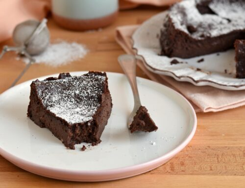 Torta ricotta e cacao senza farina