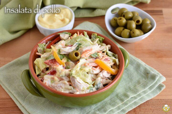 insalata di pollo classica con maionese ricetta come al bar o al risotorante il chicco di mais