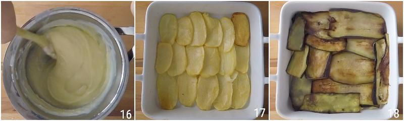 moussaka greca ricetta originale con patate e melanzane fritte e strato alto di besciamella il chicco di mais 6 strato patate