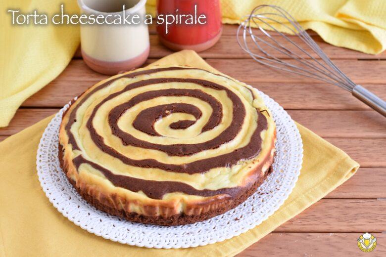 Torta cheesecake a spirale
