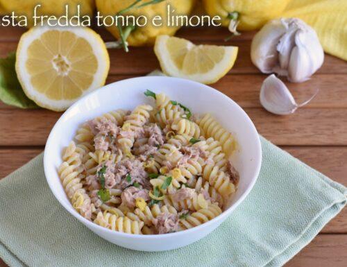 Pasta fredda tonno e limone