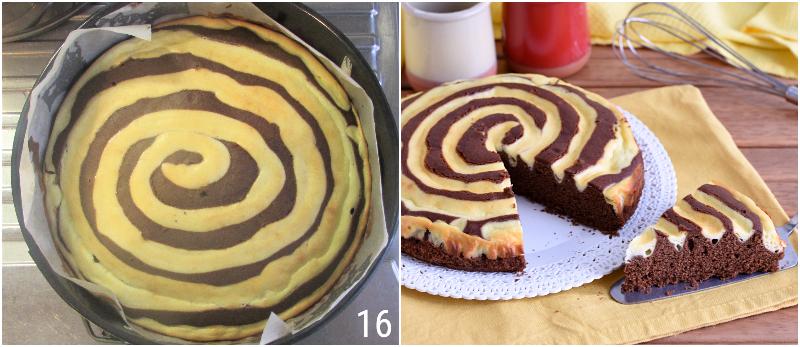torta cheesecake a spirale con cacao e philadelphia ricetta dolce veloce e originale il chicco di mais 6 cuocere il dolce