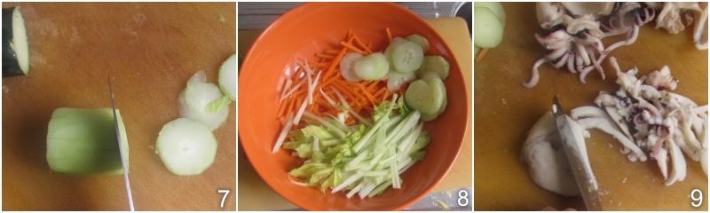 insalata di seppie con sedano e carote ricetta seppie tenere il chicco di mais 3 tagliare verdure