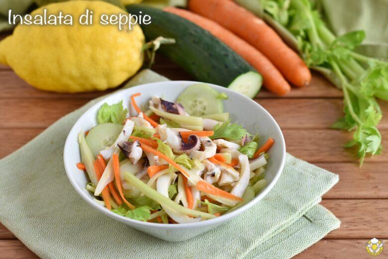 Insalata di seppie con sedano e carote