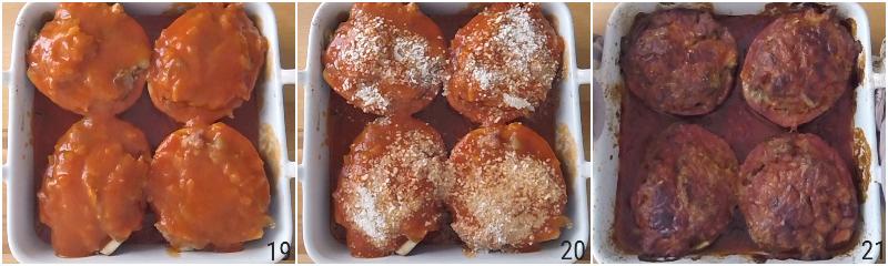 melanzane ripiene di carne al pomodoro ricetta al forno melanzane piccole con carne il chicco di mais 7 cuocere in forno