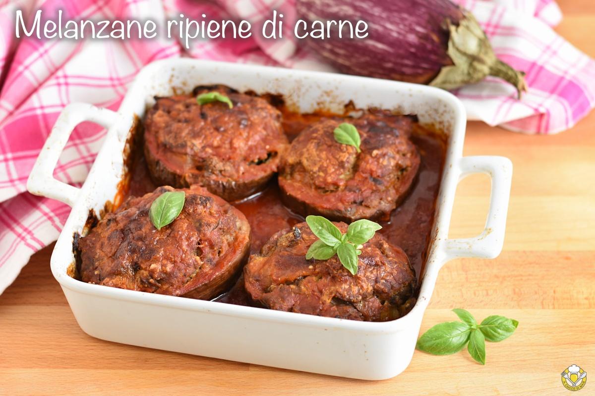 melanzane ripiene di carne al pomodoro ricetta al forno melanzane piccole con carne il chicco di mais