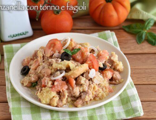 Panzanella con tonno e fagioli