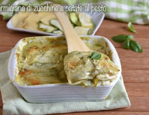 Parmigiana di zucchine e patate al pesto