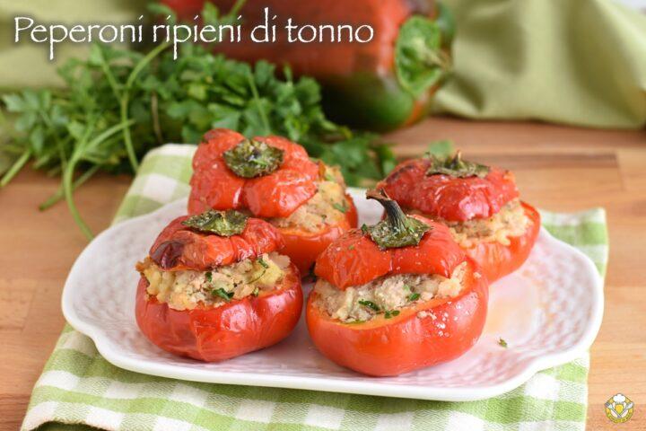 peperoni tondi ripieni di tonno e patate ricetta secondo estivo da servire freddo facile e gustoso il chicco di mais